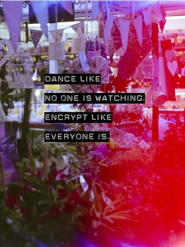 Encrypt like everyone is watching (colour BG) by MesteMonokrom