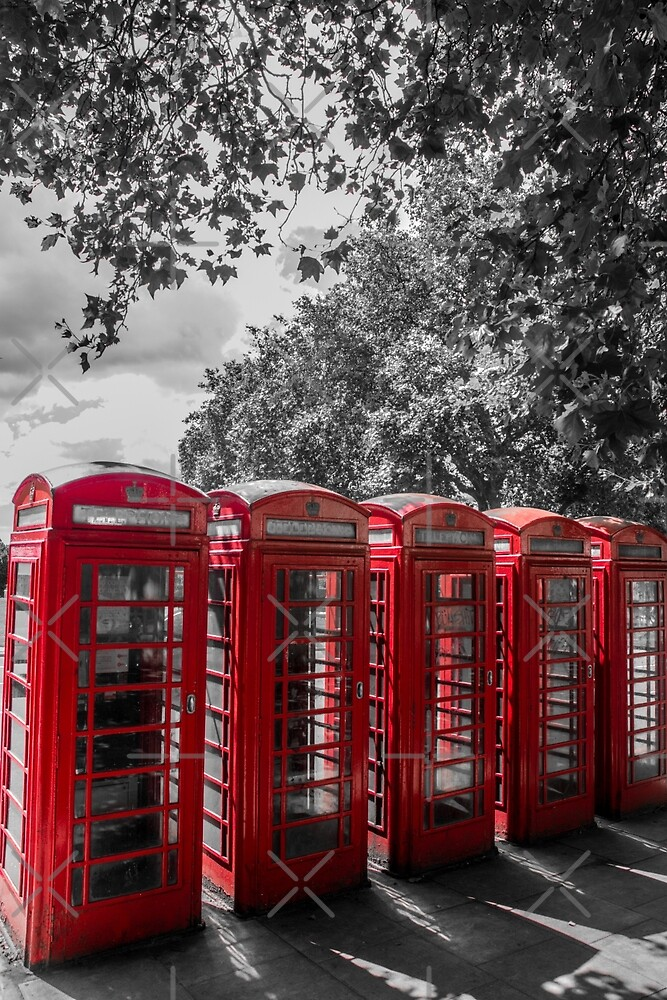 telephone booths, london #1212 by jackson photografix