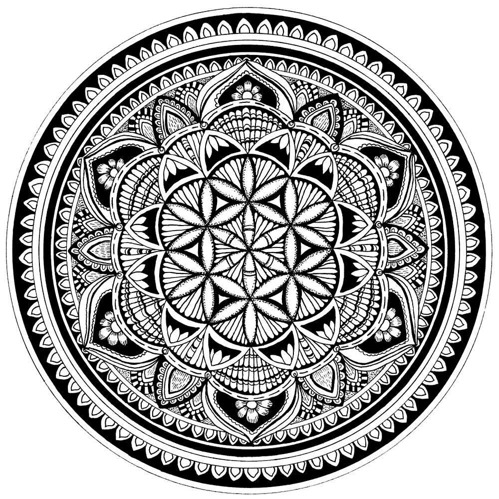 Flower tunes mandala by tekslusdesign
