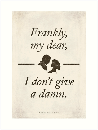 Margaret Mitchell's Gone with the Wind - Literary Quote, Book lovers gift, modern home decor. by RedHillPrints