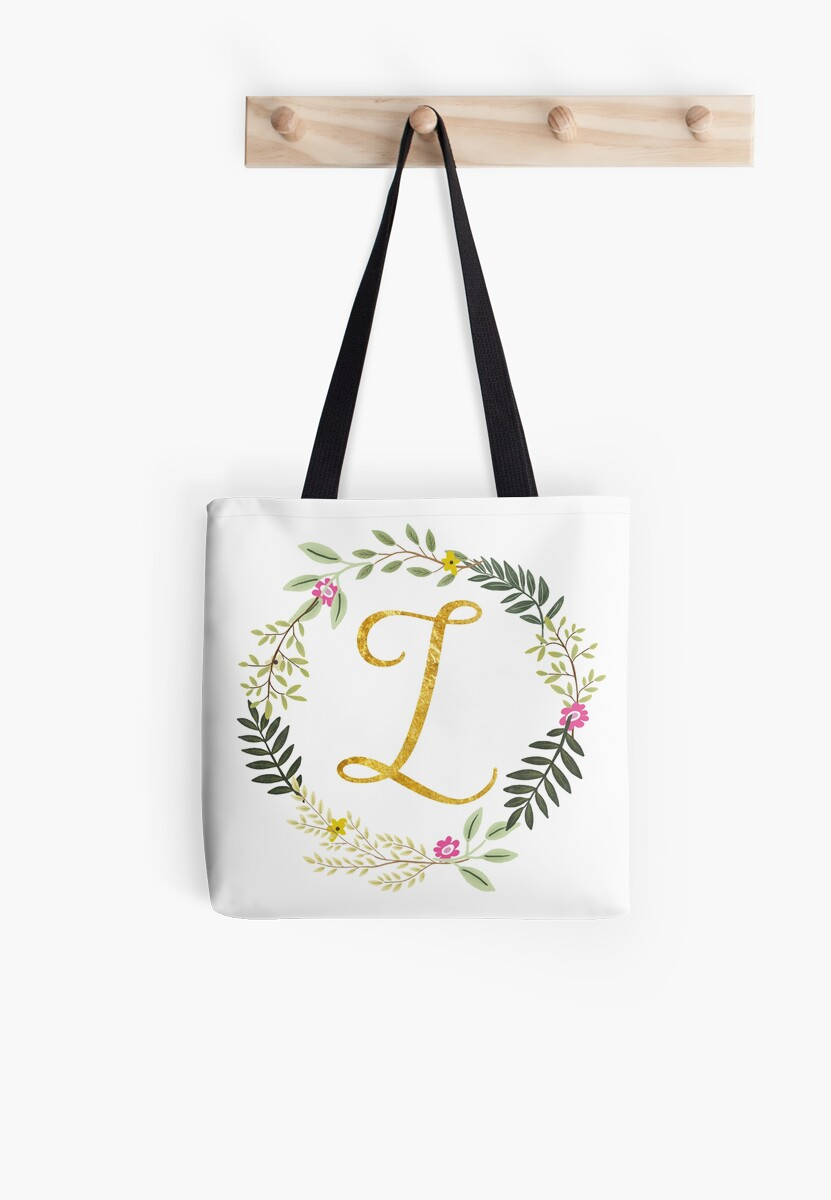Floral and Gold Initial Monogram Z by Heureux Lifestyle