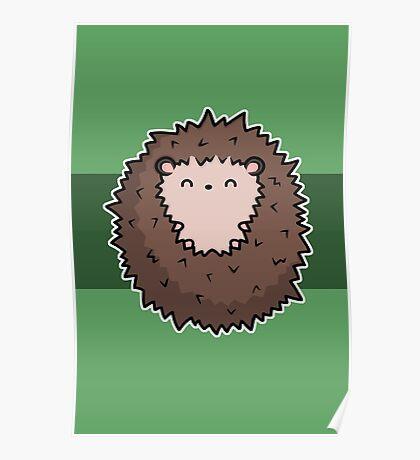 Snuggly Hedgehog Poster