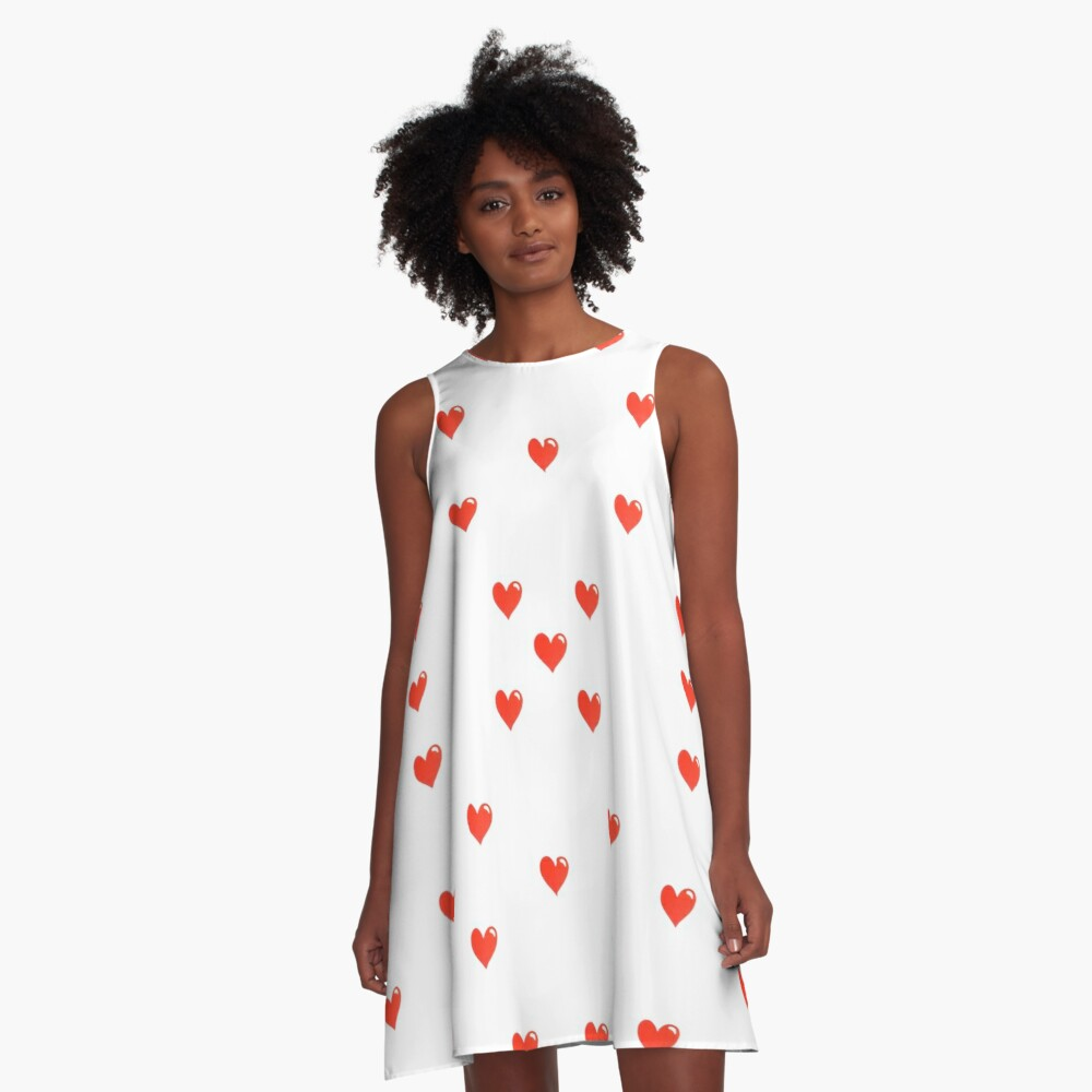 Simple Hearts Cute Pattern A-Line Dress Front