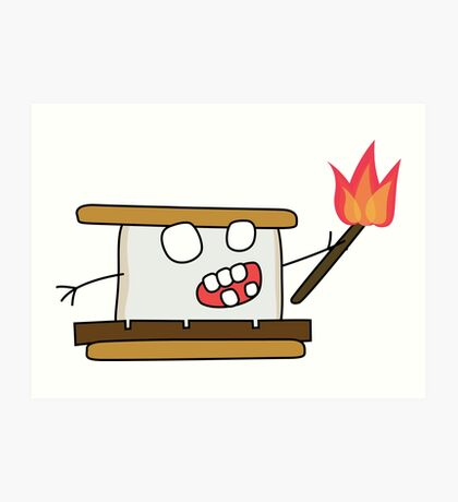angry zombie s'more Art Print