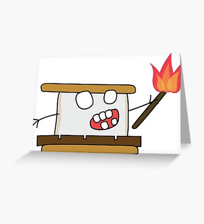 angry zombie s'more Greeting Card