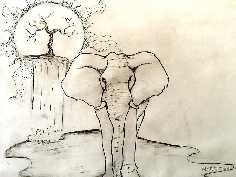 Elephant Alone by MADDIEhult