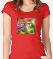 Dragonfly In Green and Blue Women's Fitted Scoop T-Shirt