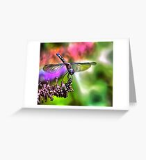 Dragonfly In Green and Blue Greeting Card