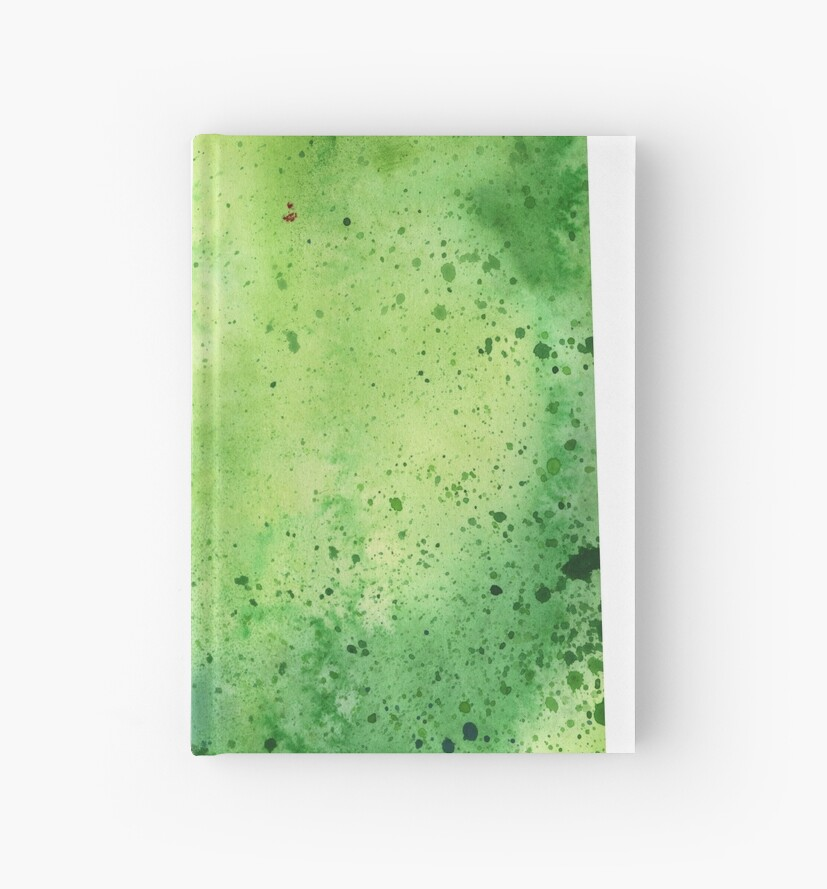 Watercolor Map of Nevada, USA in Green  by Andrea Hill