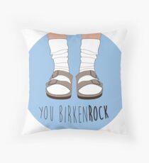 Birken-rock Throw Pillow