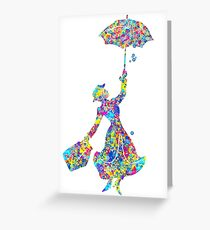 Mary Poppins - The Magical Nanny Greeting Card