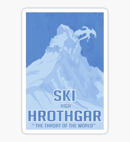 Ski Hrothgar Sticker