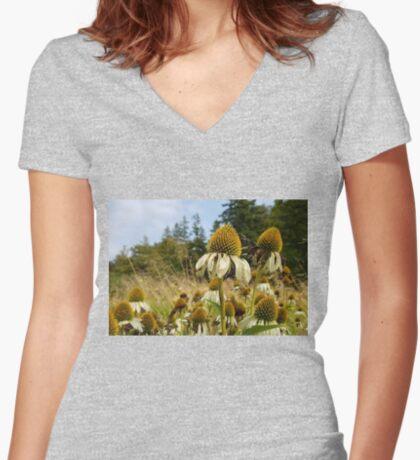 September park. II Women's Fitted V-Neck T-Shirt