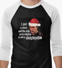 Camiseta ¾ bicolor para hombre Necesito más Sleighbell