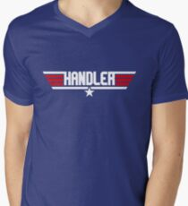 Handler Top Gun Men's V-Neck T-Shirt