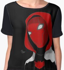 Red Hood Women's Chiffon Top