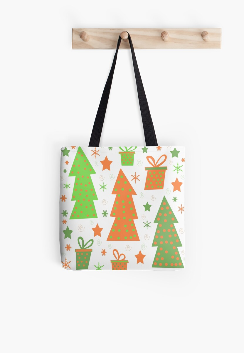 Christmas design - green and orange by ValentinaHramov