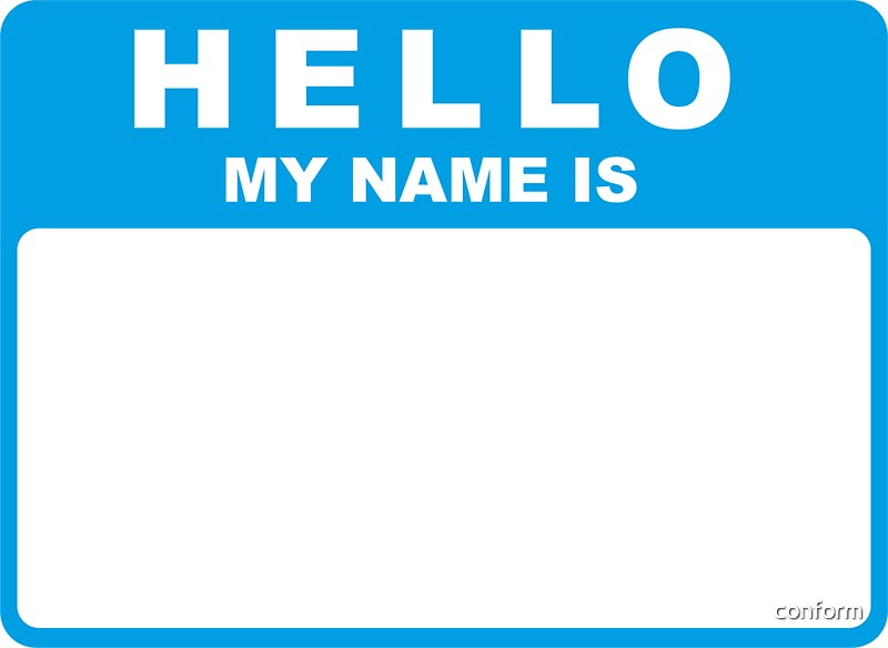 "Hello My Name Is: ""Hello My Name Is (blue)"" Stickers By Conform"