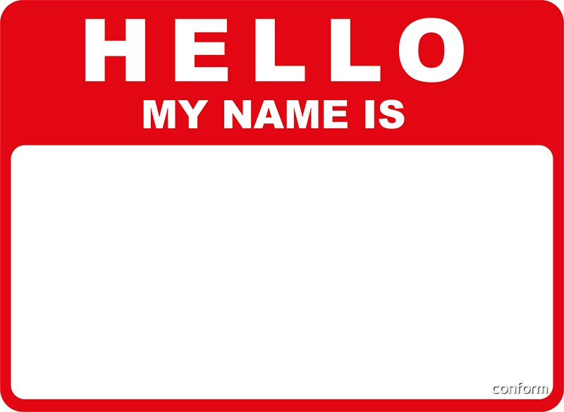 "Hello My Name Is: ""Hello My Name Is (red)"" Stickers By Conform"