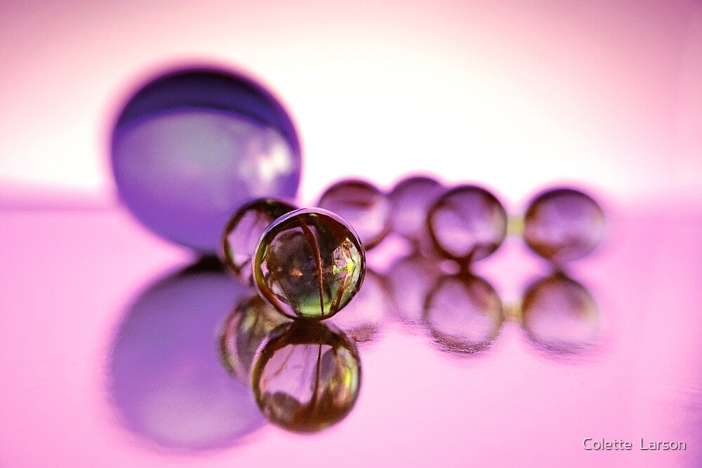 Macro Marble Reflections #2 by Colette  Larson