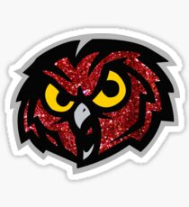 Temple Glitter Owl Sticker