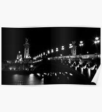 Pont Alexandre 3 (Black and White) Poster