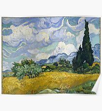 Vincent Van Gogh - Wheatfield with Cypresses Poster