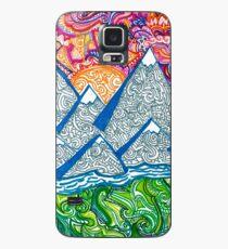 Berg Doodle Hülle & Klebefolie für Samsung Galaxy
