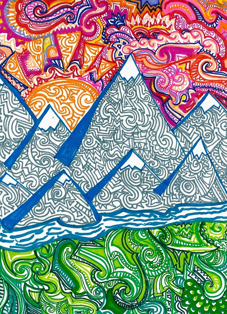Mountain Doodle by Hannah Staab