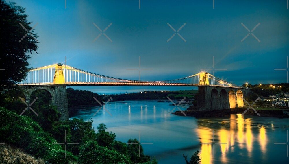 Menai at night by Sebastien Coell