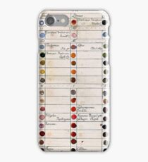 Ancient Colour Chart iPhone Case/Skin