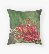 Red Blooms Los Angeles Throw Pillow