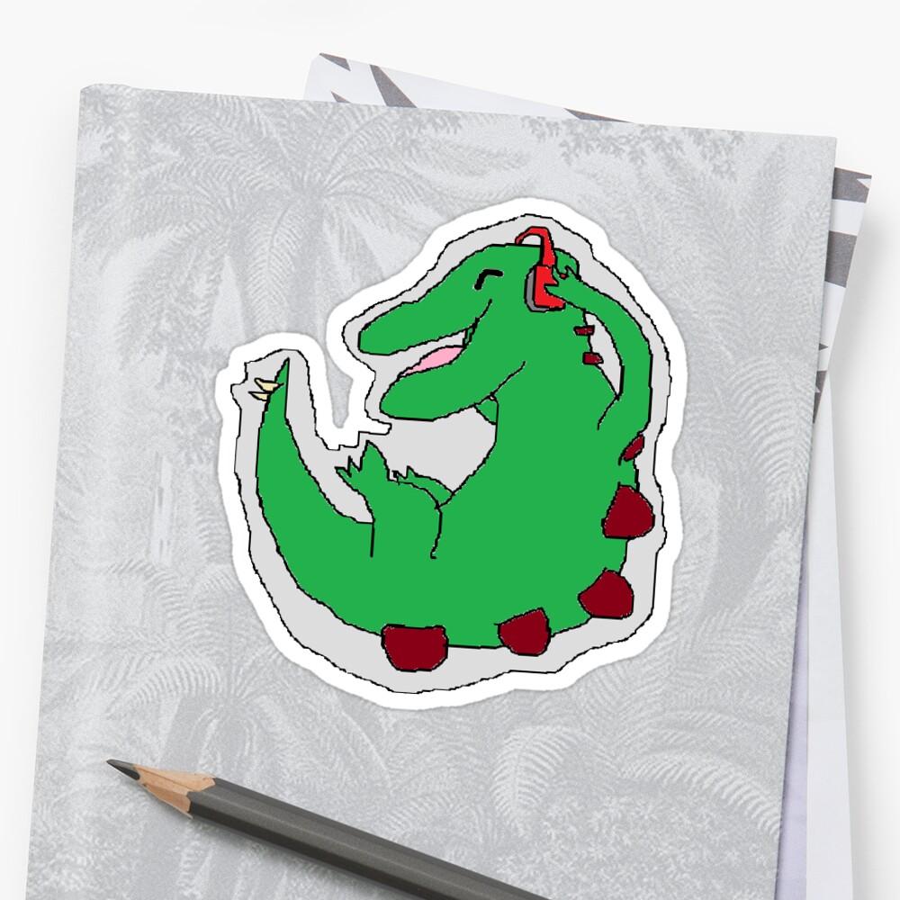 Chibi Songasauros Sticker by Farto Co
