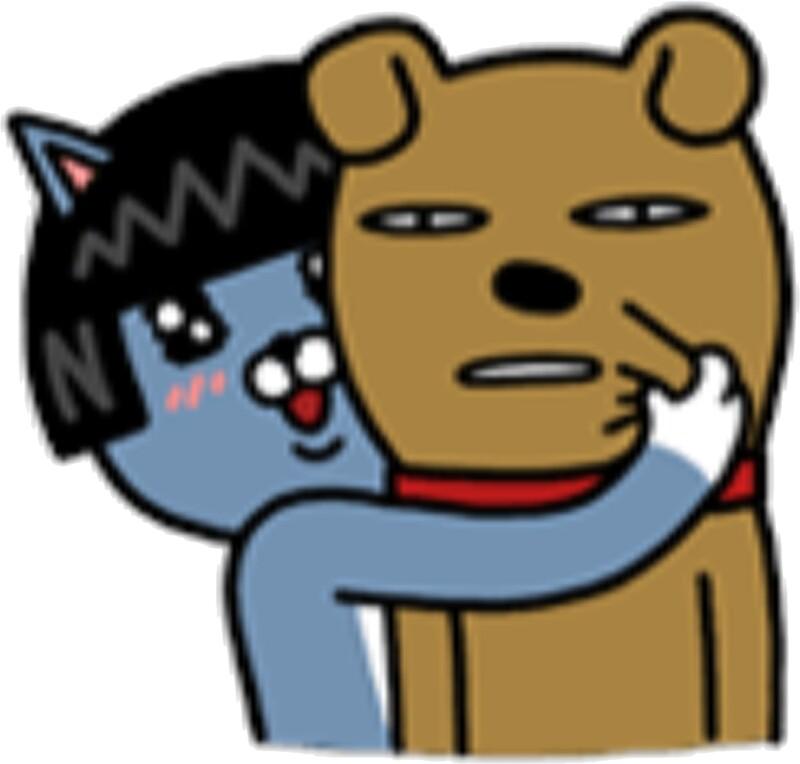 """KakaoTalk Friends Neo & Frodo"" Stickers by icdeadpixels ..."