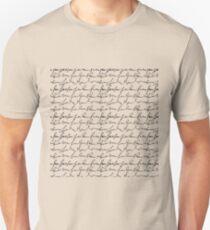 Vintage simple black white typography pattern  Unisex T-Shirt