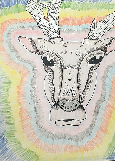 Trippy Deer by Bunnichan