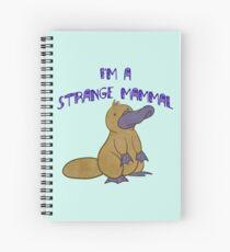 The Strange Platypus Spiral Notebook