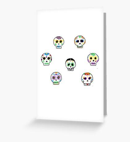 Dia de Los Muertos Sugar Skulls Greeting Card