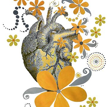 HEART OF THE GARDEN - YELLOW FLORAL DESIGN by ethereal-earth