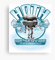 Hoth Ice Service - No Drama with the Wampa Canvas Print