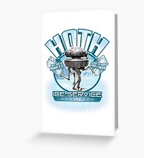 Hoth Ice Service - No Drama with the Wampa Greeting Card