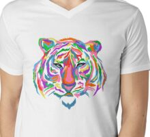 Rainbow Tiger Mens V-Neck T-Shirt