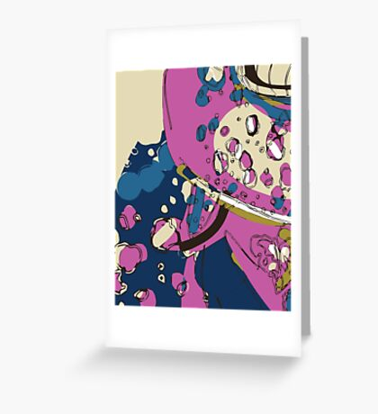 Spacey garden abstract Greeting Card
