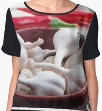 Spices for cooking closeup Women's Chiffon Top