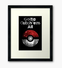 Pokemon Minimalist Nebula Design Framed Print