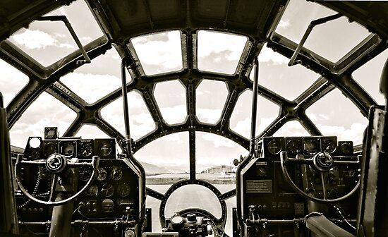Cockpit of B-29 Bomber by Amy McDaniel