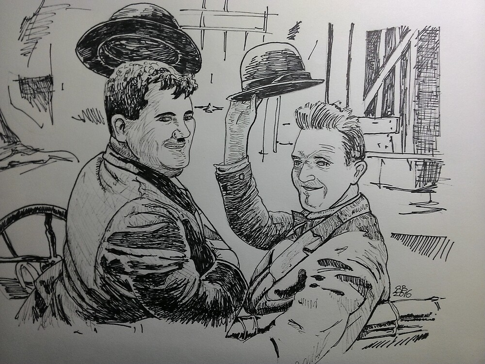 MOVIE STARS STAN AND OLIE by Bruce Baldwin