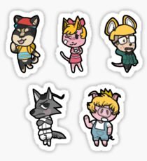Animal Crossing / Earthbound Crossover Sticker