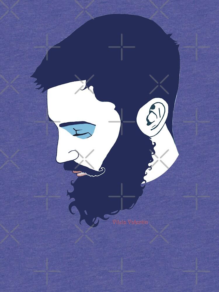Cute Bearded Man by vilelavalentin