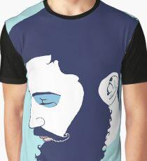 Cute Bearded Man Graphic T-Shirt